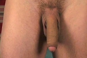 Skinny boy Sascha Vistos plays with his  big uncut dick